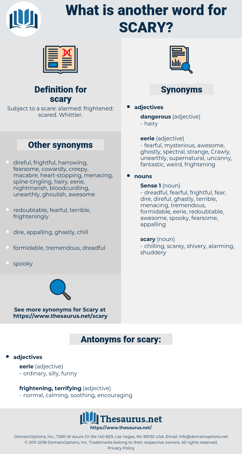 scary, synonym scary, another word for scary, words like scary, thesaurus scary