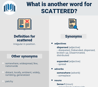 scattered, synonym scattered, another word for scattered, words like scattered, thesaurus scattered