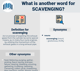 scavenging, synonym scavenging, another word for scavenging, words like scavenging, thesaurus scavenging