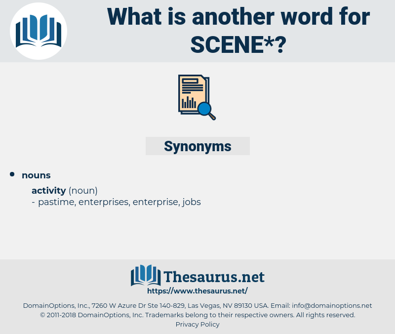 scene, synonym scene, another word for scene, words like scene, thesaurus scene