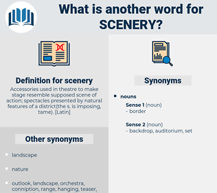 scenery, synonym scenery, another word for scenery, words like scenery, thesaurus scenery