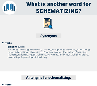 schematizing, synonym schematizing, another word for schematizing, words like schematizing, thesaurus schematizing