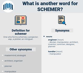 schemer, synonym schemer, another word for schemer, words like schemer, thesaurus schemer