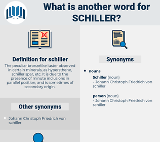 schiller, synonym schiller, another word for schiller, words like schiller, thesaurus schiller