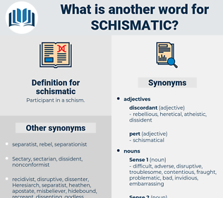 schismatic, synonym schismatic, another word for schismatic, words like schismatic, thesaurus schismatic