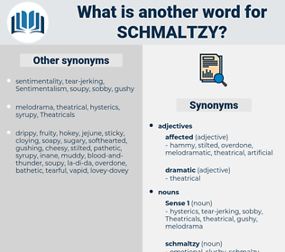 schmaltzy, synonym schmaltzy, another word for schmaltzy, words like schmaltzy, thesaurus schmaltzy
