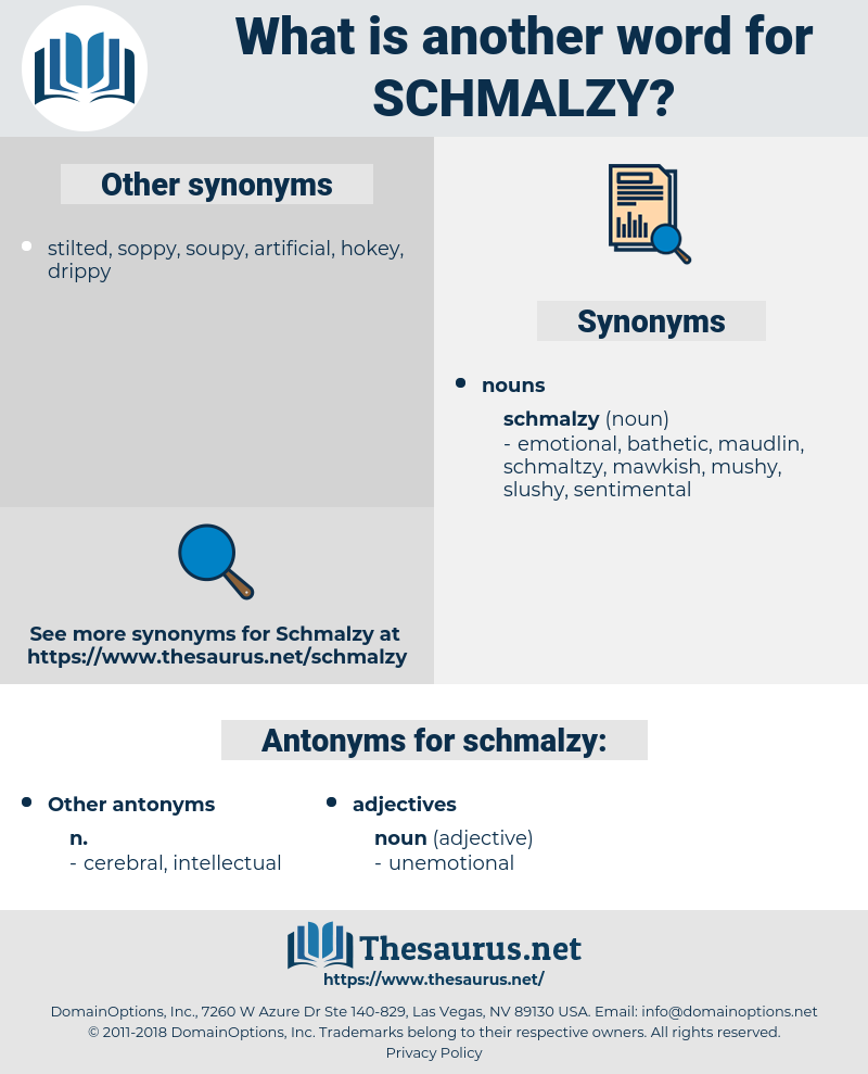 schmalzy, synonym schmalzy, another word for schmalzy, words like schmalzy, thesaurus schmalzy