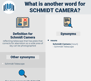 Schmidt Camera, synonym Schmidt Camera, another word for Schmidt Camera, words like Schmidt Camera, thesaurus Schmidt Camera