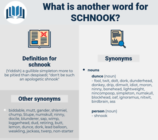 schnook, synonym schnook, another word for schnook, words like schnook, thesaurus schnook