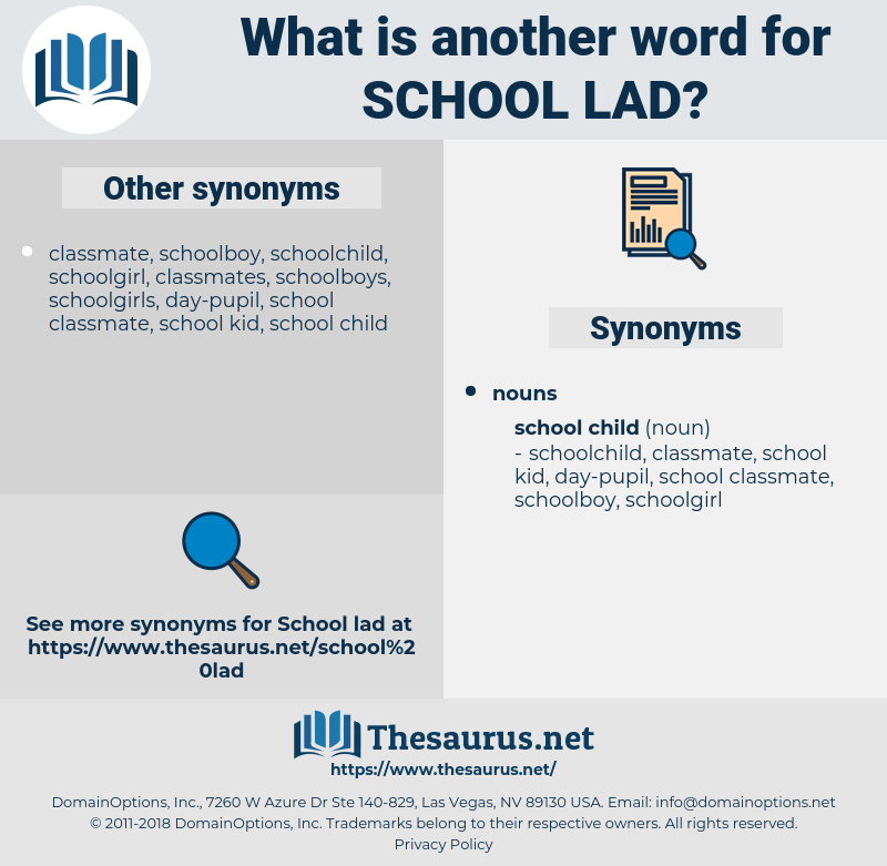 school lad, synonym school lad, another word for school lad, words like school lad, thesaurus school lad
