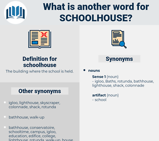 schoolhouse, synonym schoolhouse, another word for schoolhouse, words like schoolhouse, thesaurus schoolhouse