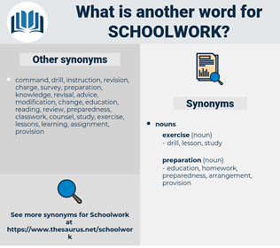 schoolwork, synonym schoolwork, another word for schoolwork, words like schoolwork, thesaurus schoolwork