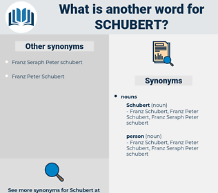 schubert, synonym schubert, another word for schubert, words like schubert, thesaurus schubert