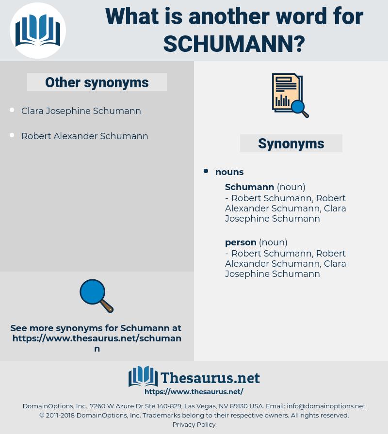 schumann, synonym schumann, another word for schumann, words like schumann, thesaurus schumann
