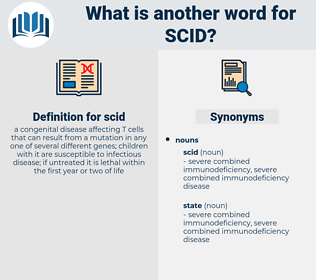 scid, synonym scid, another word for scid, words like scid, thesaurus scid