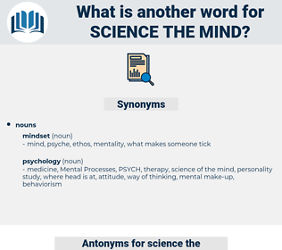 science the mind, synonym science the mind, another word for science the mind, words like science the mind, thesaurus science the mind