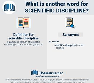 scientific discipline, synonym scientific discipline, another word for scientific discipline, words like scientific discipline, thesaurus scientific discipline