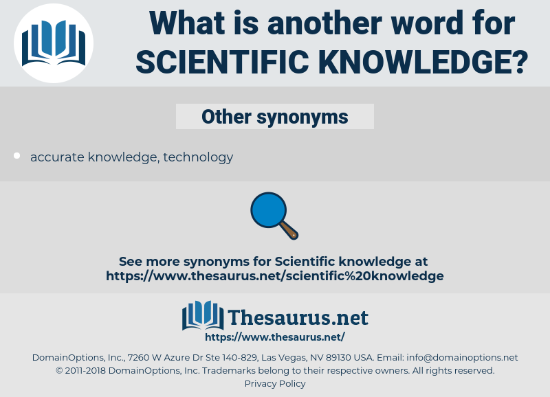 scientific knowledge, synonym scientific knowledge, another word for scientific knowledge, words like scientific knowledge, thesaurus scientific knowledge