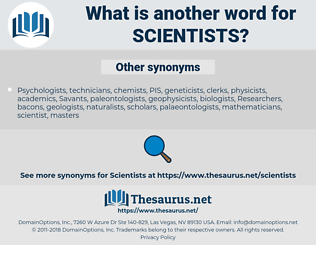 scientists, synonym scientists, another word for scientists, words like scientists, thesaurus scientists