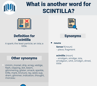 scintilla, synonym scintilla, another word for scintilla, words like scintilla, thesaurus scintilla