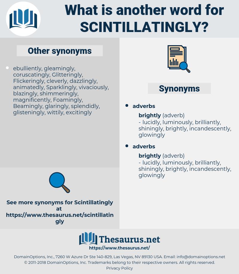 scintillatingly, synonym scintillatingly, another word for scintillatingly, words like scintillatingly, thesaurus scintillatingly