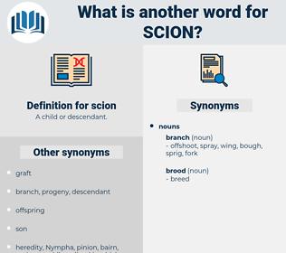 scion, synonym scion, another word for scion, words like scion, thesaurus scion