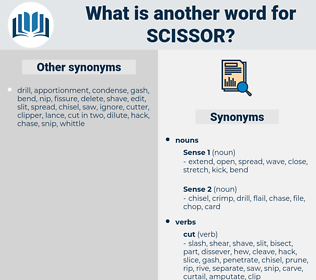 scissor, synonym scissor, another word for scissor, words like scissor, thesaurus scissor
