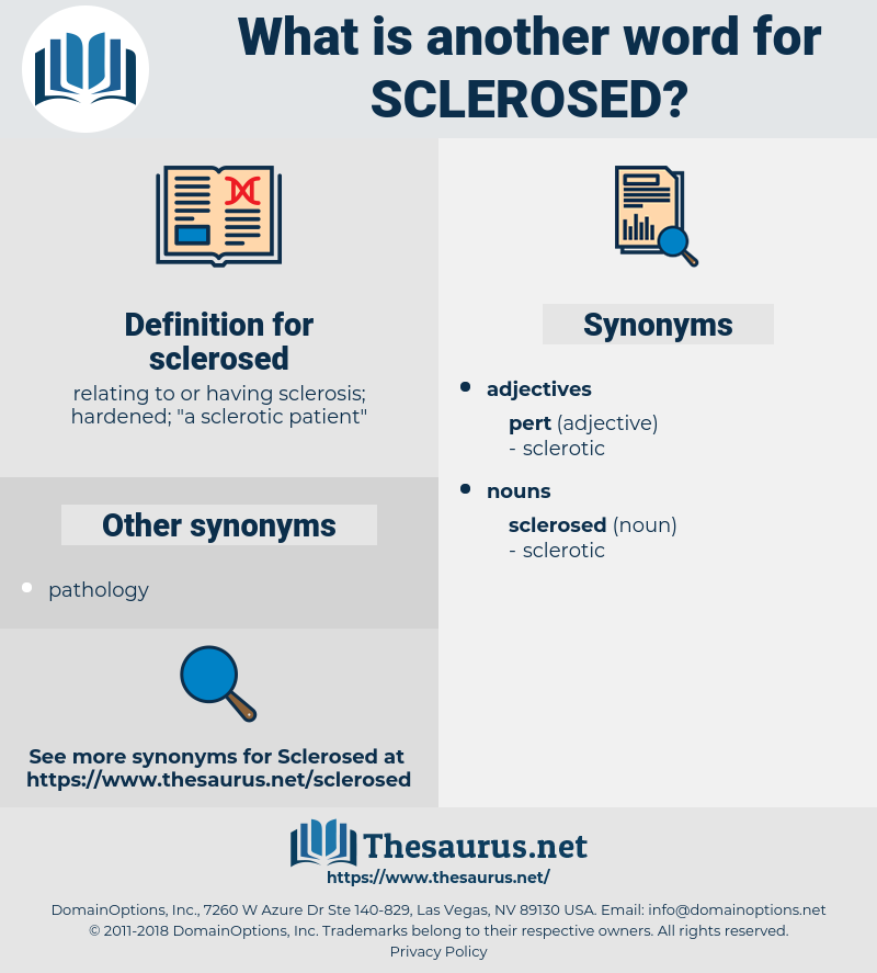 sclerosed, synonym sclerosed, another word for sclerosed, words like sclerosed, thesaurus sclerosed