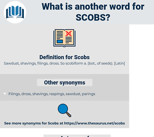 Scobs, synonym Scobs, another word for Scobs, words like Scobs, thesaurus Scobs