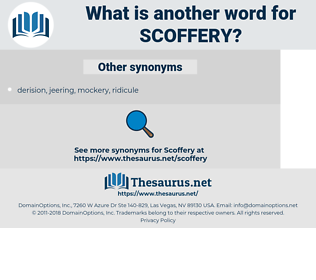 Scoffery, synonym Scoffery, another word for Scoffery, words like Scoffery, thesaurus Scoffery