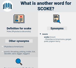 scoke, synonym scoke, another word for scoke, words like scoke, thesaurus scoke