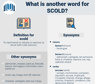 scold, synonym scold, another word for scold, words like scold, thesaurus scold