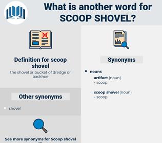 scoop shovel, synonym scoop shovel, another word for scoop shovel, words like scoop shovel, thesaurus scoop shovel