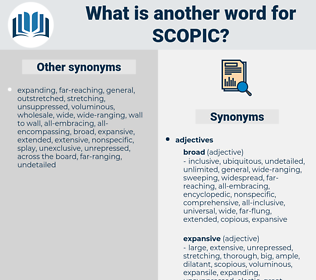 scopic, synonym scopic, another word for scopic, words like scopic, thesaurus scopic