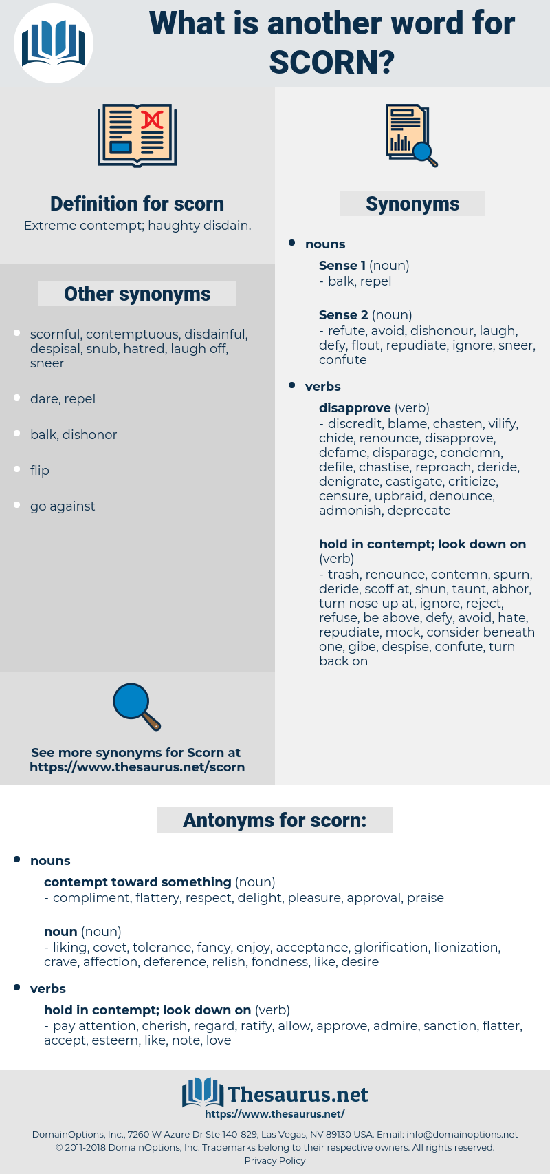 scorn, synonym scorn, another word for scorn, words like scorn, thesaurus scorn