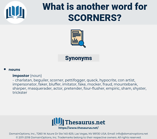 scorners, synonym scorners, another word for scorners, words like scorners, thesaurus scorners