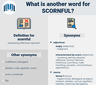 scornful, synonym scornful, another word for scornful, words like scornful, thesaurus scornful