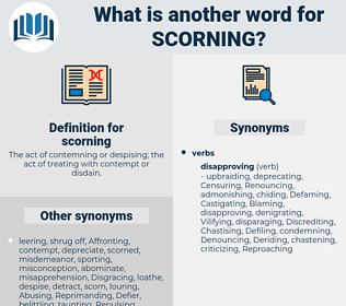 scorning, synonym scorning, another word for scorning, words like scorning, thesaurus scorning