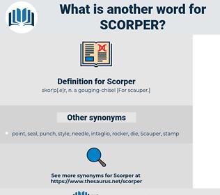 Scorper, synonym Scorper, another word for Scorper, words like Scorper, thesaurus Scorper