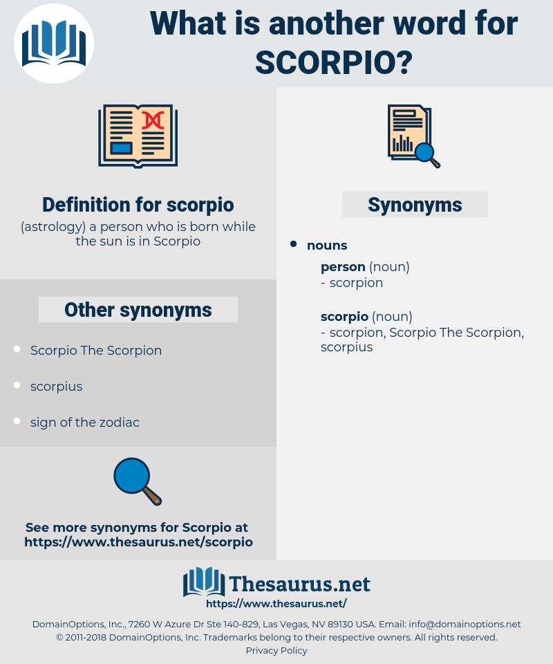 scorpio, synonym scorpio, another word for scorpio, words like scorpio, thesaurus scorpio