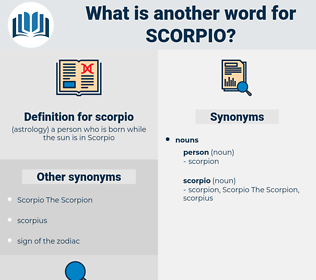 scorpio, synonym scorpio, another word for scorpio, words like scorpio, thesaurus scorpio
