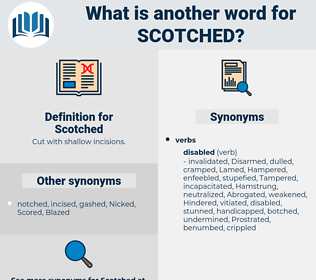 Scotched, synonym Scotched, another word for Scotched, words like Scotched, thesaurus Scotched