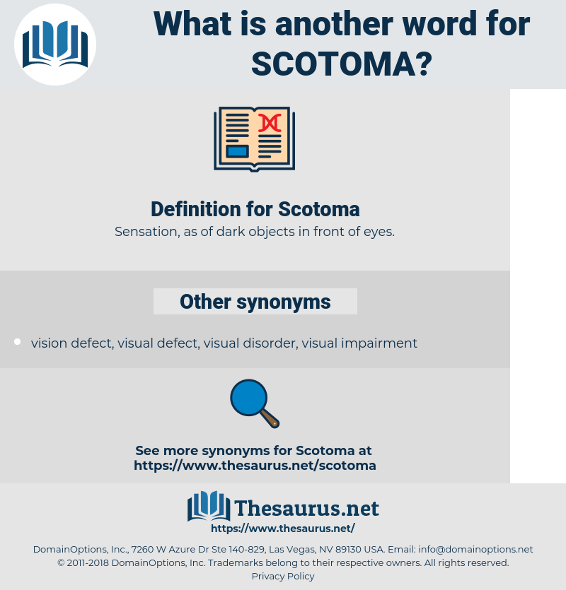 Scotoma, synonym Scotoma, another word for Scotoma, words like Scotoma, thesaurus Scotoma