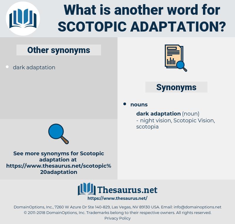 Scotopic Adaptation, synonym Scotopic Adaptation, another word for Scotopic Adaptation, words like Scotopic Adaptation, thesaurus Scotopic Adaptation