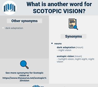Scotopic Vision, synonym Scotopic Vision, another word for Scotopic Vision, words like Scotopic Vision, thesaurus Scotopic Vision
