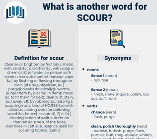 scour, synonym scour, another word for scour, words like scour, thesaurus scour