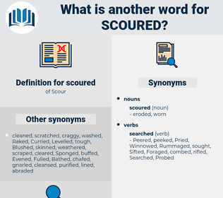 scoured, synonym scoured, another word for scoured, words like scoured, thesaurus scoured