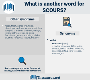 scours, synonym scours, another word for scours, words like scours, thesaurus scours