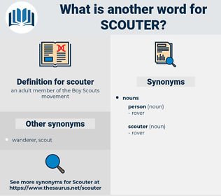 scouter, synonym scouter, another word for scouter, words like scouter, thesaurus scouter