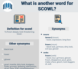 scowl, synonym scowl, another word for scowl, words like scowl, thesaurus scowl